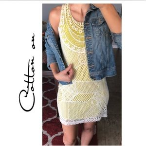 Cotton on crochet dress